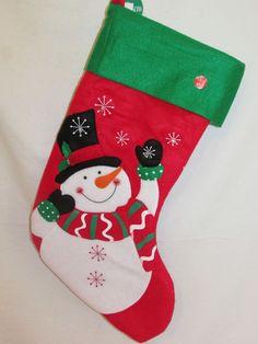 Christmas Stockings, Snowflakes, Snowman, Applique, Holiday Decor, Amazing, Ebay, Needlepoint Christmas Stockings, Snow Flakes