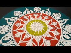 Small and Quick Easy Poster Rangoli Design made for Sankranti. Makar Sankranti Special Rangoli kolam using Haldi Kumkum Supari, til gul, leaf etc. Watch more. Rangoli Designs Peacock, Easy Rangoli Designs Diwali, Diwali Special Rangoli Design, Indian Rangoli Designs, Simple Rangoli Designs Images, Rangoli Designs Latest, Free Hand Rangoli Design, Rangoli Ideas, Diwali Rangoli