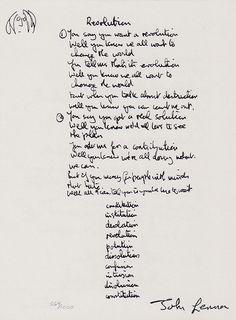 Limited edition lithographic prints from the collections of artworks by John Lennon - Revolution (Hand-Written Lyrics) John Lennon Lyrics, Beatles Lyrics, Song Lyrics Art, Led Zeppelin Lyrics, Quotes Deep Meaningful Short, John Lenon, Music Pics, The Fab Four, Boy Quotes