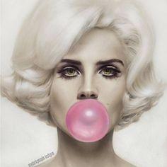 """Face: Lana Del Rey  Body: Marilyn Monroe  #lanadelrey #marilynmonroe"""