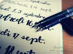 bullet journal bujo calligraphie lettrage