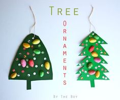 Adorable Recycled Tree Ornaments