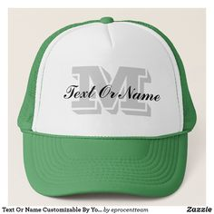 Shop Text Or Name Customizable By Your Initial Letter Trucker Hat created by eprocentteam. Personalize it with photos & text or purchase as is! Popular Colors, Pink And Green, Blue, Animal Skulls, Custom Hats, Initial Letters, White Shop, Diy Face Mask, Hot Pink