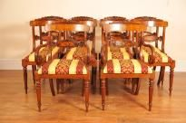 Set 8 Walnut Inlay Regency Dining Chairs Chair English Walnut Dining Chairs, Walnut Chair, Walnut Furniture, Pine Furniture, Table And Chairs, Side Chairs, Regency Furniture, Chair Height, Modern Design