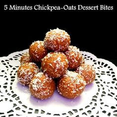 5 Minutes Chickpea-Oats Dessert Bites ~ Are your answer to a Healthy yet Sinful Dessert. Indian Desserts, Indian Food Recipes, Real Food Recipes, Cooking Recipes, Indian Sweets, Healthy Recipes, Healthy Foods, Quick Dessert Recipes, Lunch Box Recipes