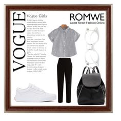 """""""Romwe"""" by havka ❤ liked on Polyvore featuring Witchery, The Row and Vans"""