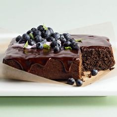 Fresh blueberries pair perfectly with this Whole Wheat Chocolate Cake. Recipe: http://www.bhg.com/recipe/chocolate-cakes/whole-wheat-chocolate-blueberry-cake/?socsrc=bhgpin091812chocolateblueberrycake