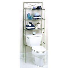 cross bar pearl nickel spacesaver walmartcom over toilet storagetoilet shelvesbathroom
