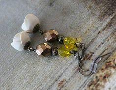 Hand-made vintage earings