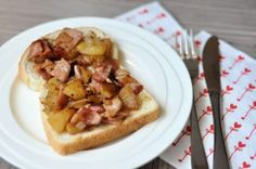 Appel en bacon op zn Deens