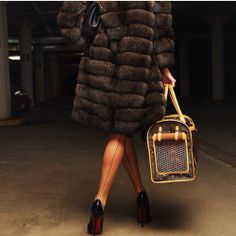 Aside from the dog bag, everything about this photo is SAIX. That fur better be faux!