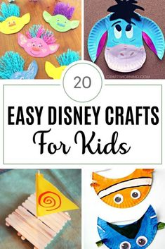 When your kids want to enjoy their favorite Disney movie another way, let them do these easy Disney crafts for kids and have a fun time. #disney #disneycrafts #craftsforkids