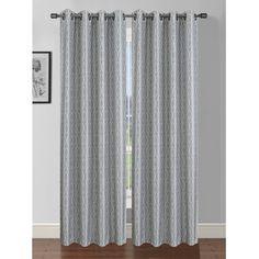 Jasper Printed Faux Silk Grommet Curtain Panel (Set of 2)