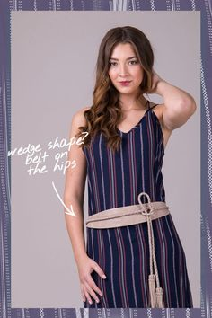 How to Wear a Belt with a Dress   Body shape   Belt on the hips   Genuine leather   One size belt   Modern   Effortless   Style   Fashion