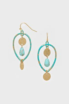 Turquoise Meg Earrings | Women's Clothes, Casual Dresses, Fashion Earrings & Accessories | Emma Stine Limited