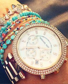 Idée et inspiration Bijoux :   Image   Description   Michael Kors Parker Watch  – Shopbop