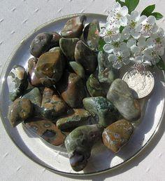 10 Rhyolite Crystal Tumblestones by SunnyCrystals on Etsy, $6.25