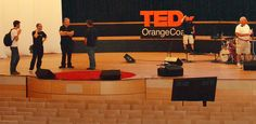 BioBeats team from London is checking in - TEDxOrangeCoast 2012 - Preparation Day