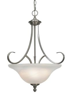 Golden Lighting Lancaster 3 Light Pendant Bowl Pewter Gl 6005 3p