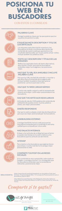 11 consejos para posicionar tu web en buscadores #infografia
