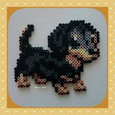 Puppy hama perler beads by yana_vlad_2003