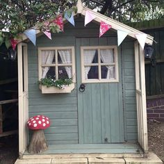 Lovely pretty garden shed | 10 Amazingly Awesome Cubby Houses Part 3 - Tinyme Blog