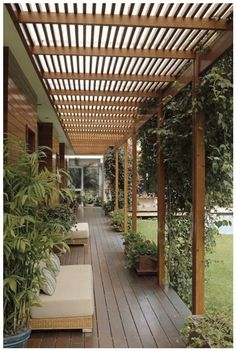 The pergola kits are the easiest and quickest way to build a garden pergola. There are lots of do it yourself pergola kits available to you so that anyone could easily put them together to construct a new structure at their backyard. Pergola Patio, Pergola Plans, Backyard Patio, Backyard Landscaping, White Pergola, Modern Pergola, Cheap Pergola, Steel Pergola, Landscaping Ideas