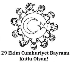 29 Ekim Boyama Sayfaları Turkish School, Simple Present Tense, Turkey Holidays, National Holidays, Secondary School, Special Day, Coloring Pages, Kindergarten, Crafts For Kids