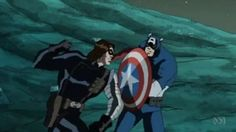 Winter Soldier and Cap from The Avengers Earths Mightiest Heroes Season 2