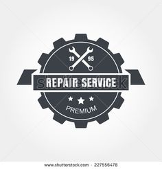 vintage mechanic logo | Vintage style car repair service label. Vector logo design template ...