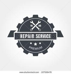 vintage mechanic logo | Vintage style car repair service label. Vector logo design template ...