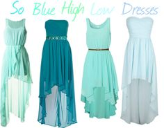 """SO BLUE! High Low Dresses"" by kristayyyy ❤ liked on Polyvore"
