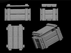 Wood Crate 3D Dxf - 3D Model