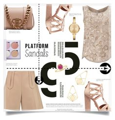 """""""Platform Sandals"""" by suzanne228 ❤ liked on Polyvore featuring Miss Selfridge, Carven, Emilio Pucci, Aquazzura, Anastasia Beverly Hills, Michael Kors and platformsandals"""