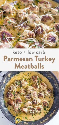 Parmesan Keto Turkey Meatballs (Low Carb, Gluten Free) Dive in this recipe for ground turkey meatballs so good the kids will gobble them down. They are keto and low carb friendly checking off the boxes for you to cook a great healthy dinner for the family. They aren't baked but made on the stove top for a super easy and quick recipe.<br> These parmesan keto turkey meatballs have just the right amount of spice and savory flavors. Making these the perfect option for a easy low carb dinner. Quick Ground Turkey Recipes, Ground Turkey Dinners, Ground Turkey Meatballs, Healthy Turkey Recipes, Ground Turkey Recipe For Kids, Healthy Ground Turkey Dinner, Vegetable Recipes, Easy Healthy Dinners, Healthy Dinner Recipes