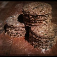 Oatcakes, stacked ready for baking