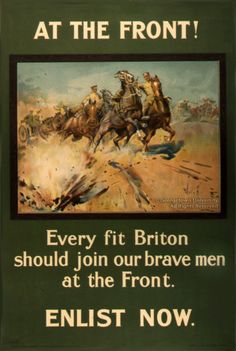 A British propaganda poster asking men to enlist.