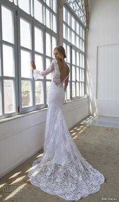 lihi hod bridal 2016 lilo sleeveless bohemian wedding dress straps embroidered bodice pleated skirt lattice bead fringe back view