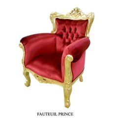 chaise baroque velours rouge