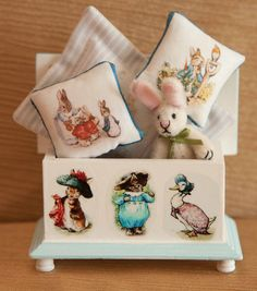 Vintage Dollhouse Miniature 112 scale Bunny by VintajesqueJewelry, $99.00