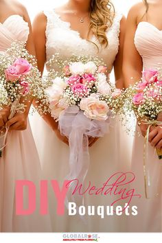 DIY Wedding Bouquets. If there's one special day in your adult life, it's your wedding day - so your wedding flowers need to be the freshest and the absolute best they can be. For this important reason, Global Rose has a selection that's second to none. Visit GlobalRose.com to see more and to shop the selection.