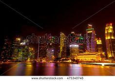 watercolor of Singapore night light
