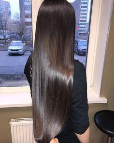 Dirvim's hair Source by Long Silky Hair, Long Dark Hair, Beautiful Long Hair, Gorgeous Hair, Coiffure Hair, Dream Hair, Shiny Hair, Brunette Hair, Hair Looks