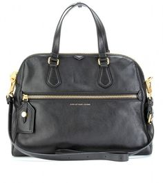 Marc By Marc Jacobs Black Calamity Rei Leather Handbag