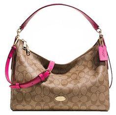 Coach East/West Celeste Signature C Hobo Shoulder Handbag Purse