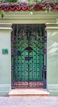 Cartagena, Colombia door with gate