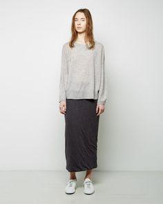 Raquel Allegra | Double Layer Maxi Skirt | La Garçonne
