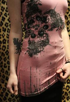 Pretty Disturbia Pink Dolls Eye Punk Grunge Vest Top! Sizes S,M,L. Available for £5.00.