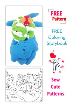 Free patterns and coloring storybook when you subscribe.