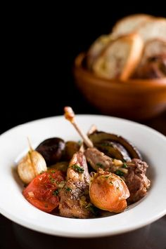 Grilled Lamb Chops and Veggies